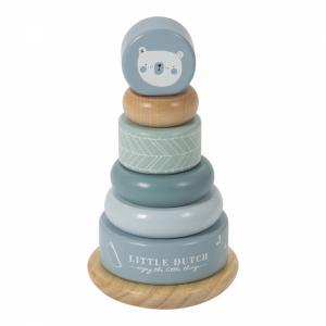 Little Dutch - houten tuimelringpiramide Adventure blue