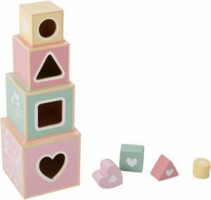 Little Dutch - houten stapelblokken Adventure pink