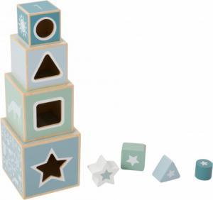 Little Dutch - houten stapelblokken Adventure blue