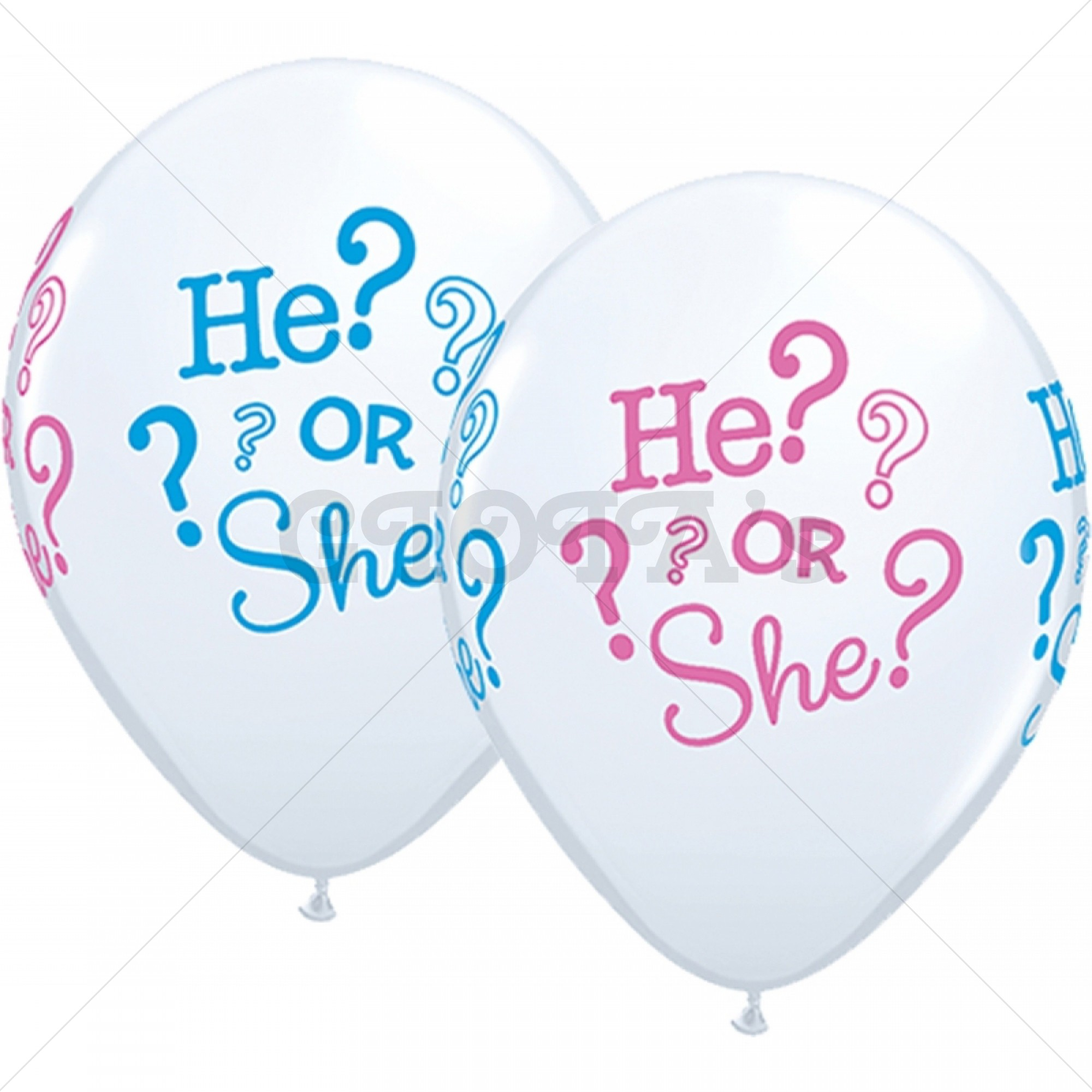 Gender reveal - party ballon he or she