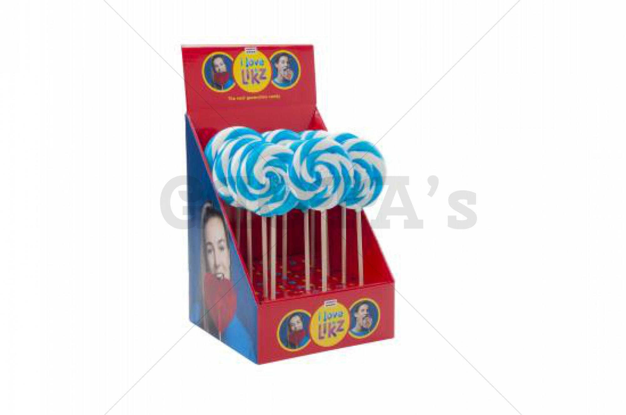 Themasnoep - Spiraal lolly Blauw 9 cm prijs is per stuk.