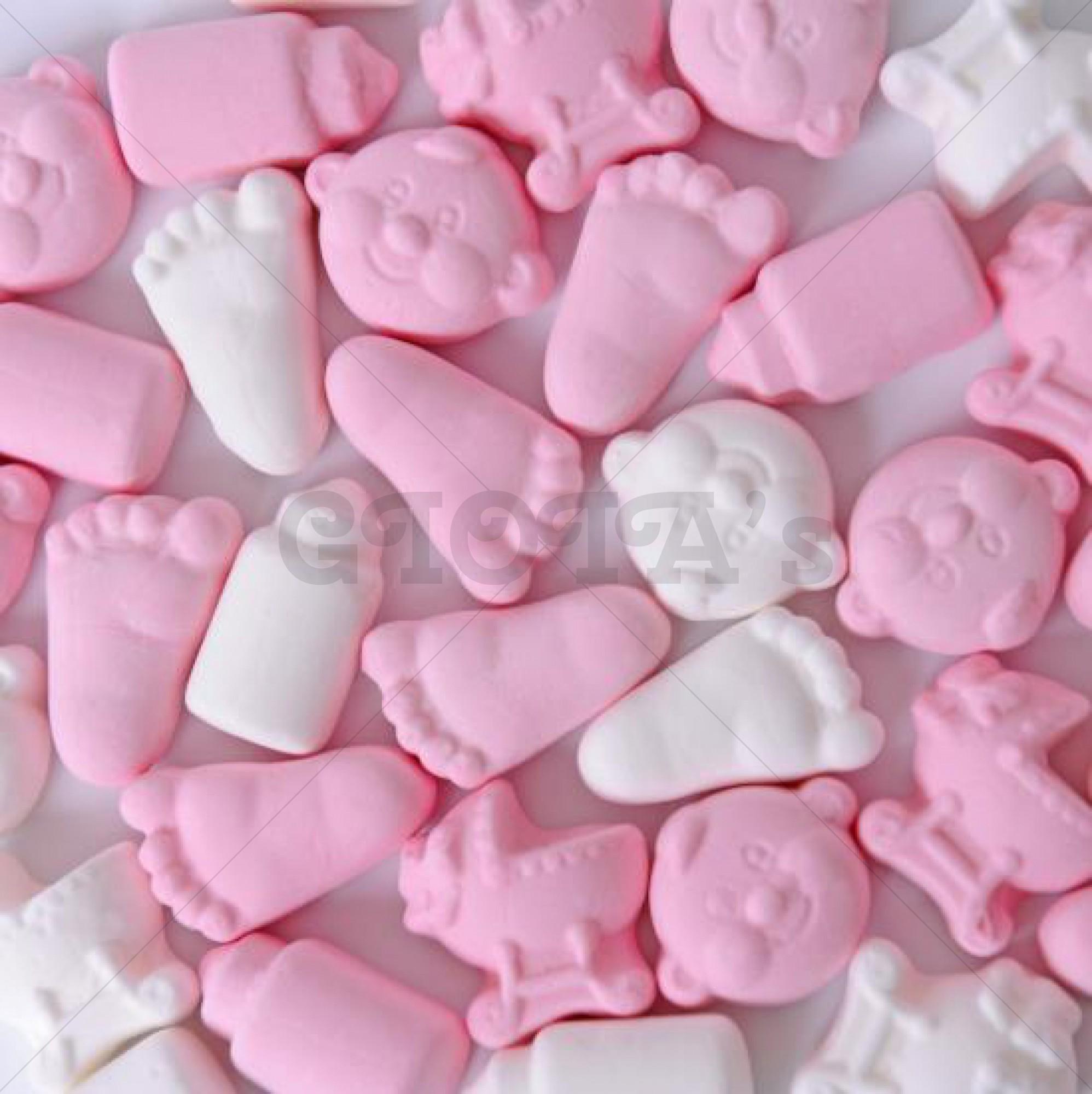 Baby mix schuimpjes roze/wit 100 gram
