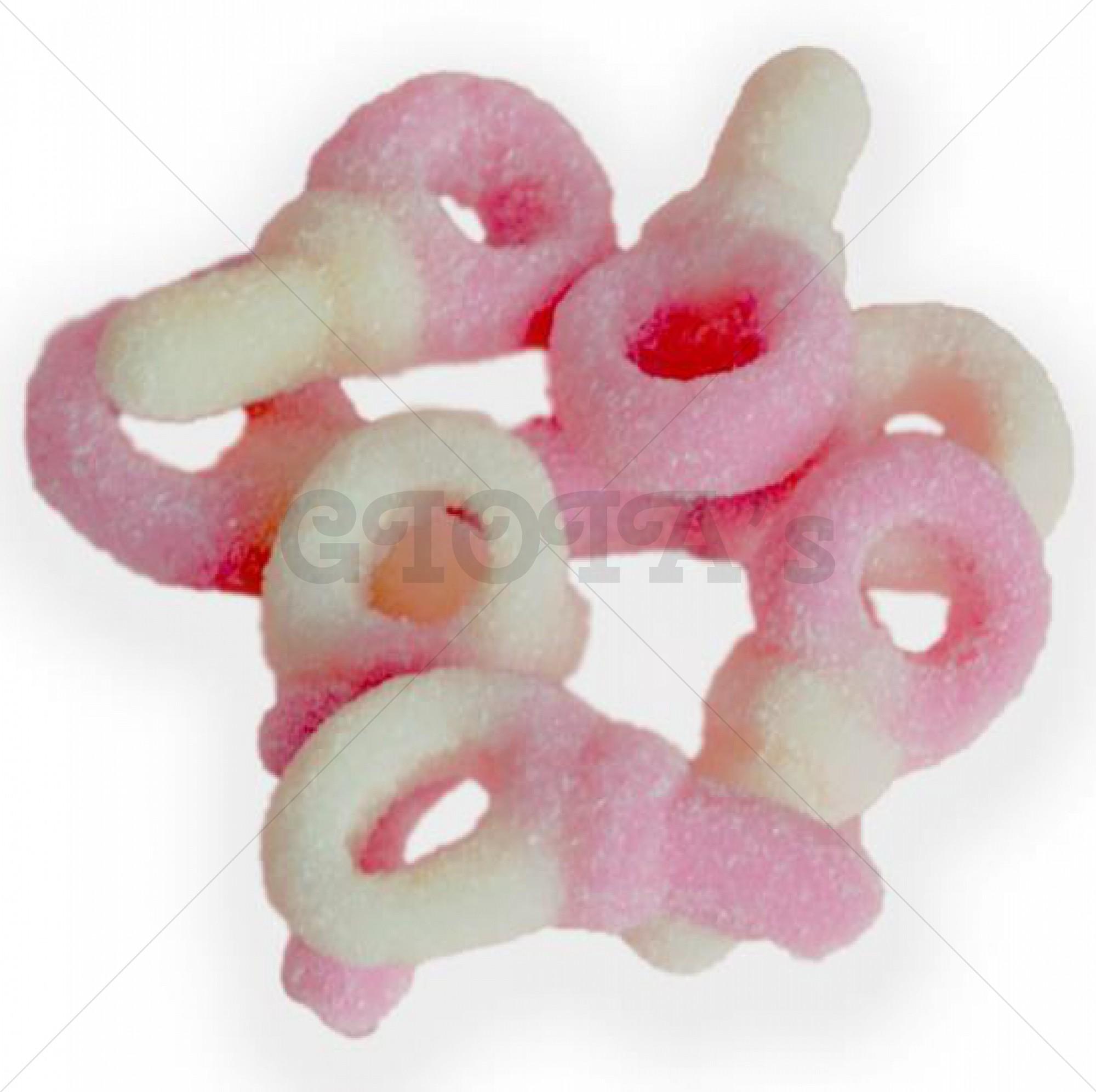 Themasnoep - Speentjes roze/wit (gesuikerd) per stuk