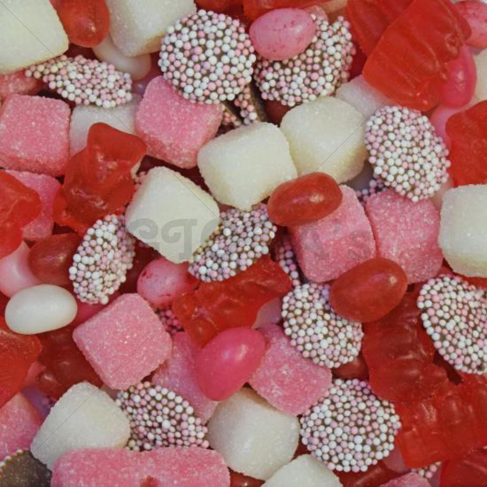 Themasnoep - Tum-Tum mix roze/wit 100gram