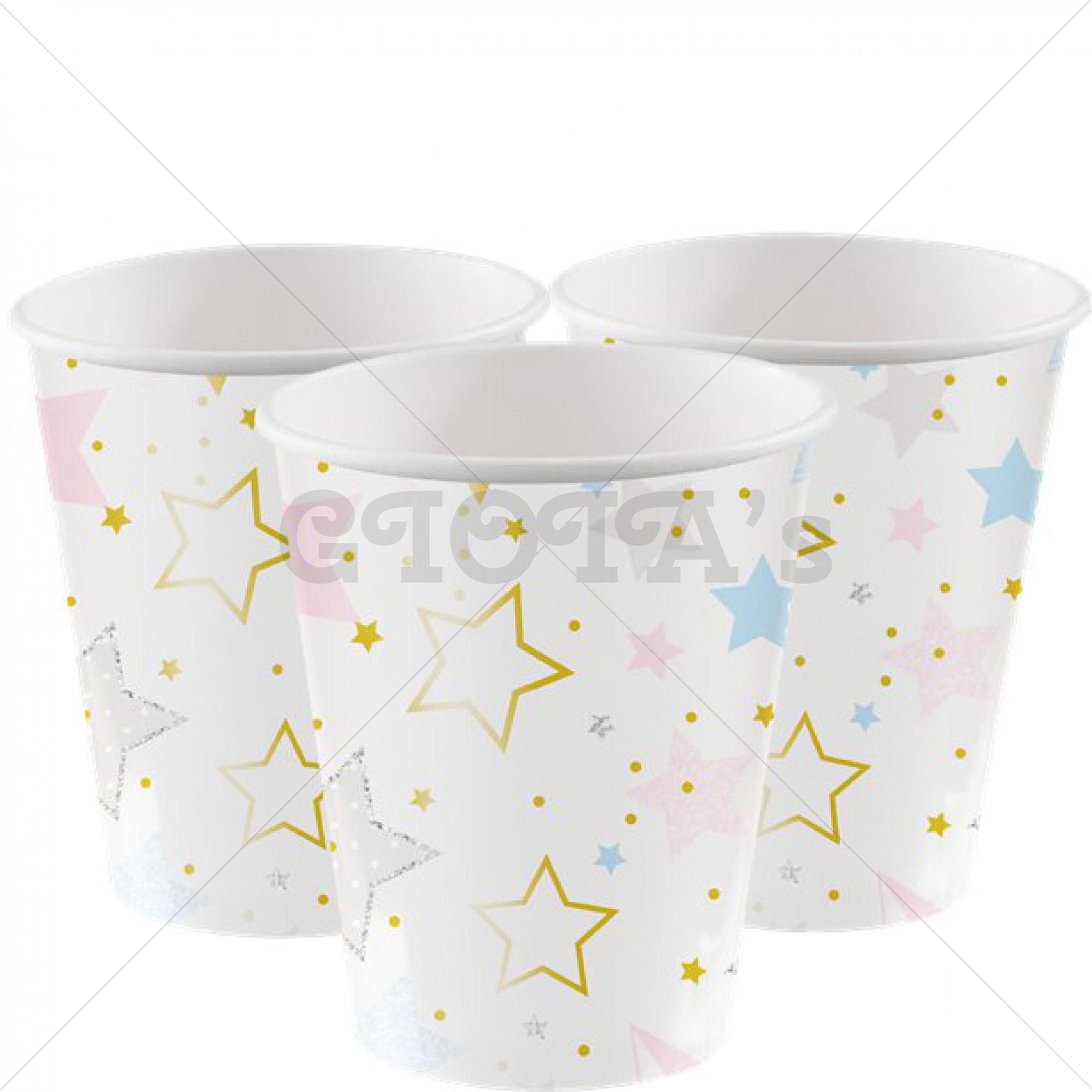 Twinkle star- bekers 8 stuks