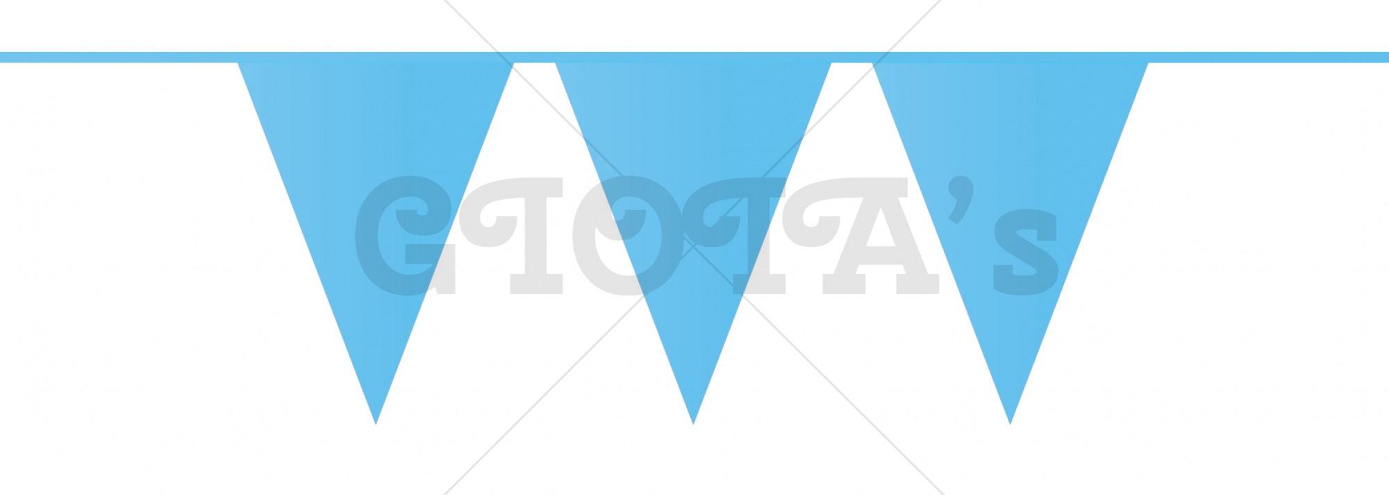 Vlaglijn blauw 10 meter