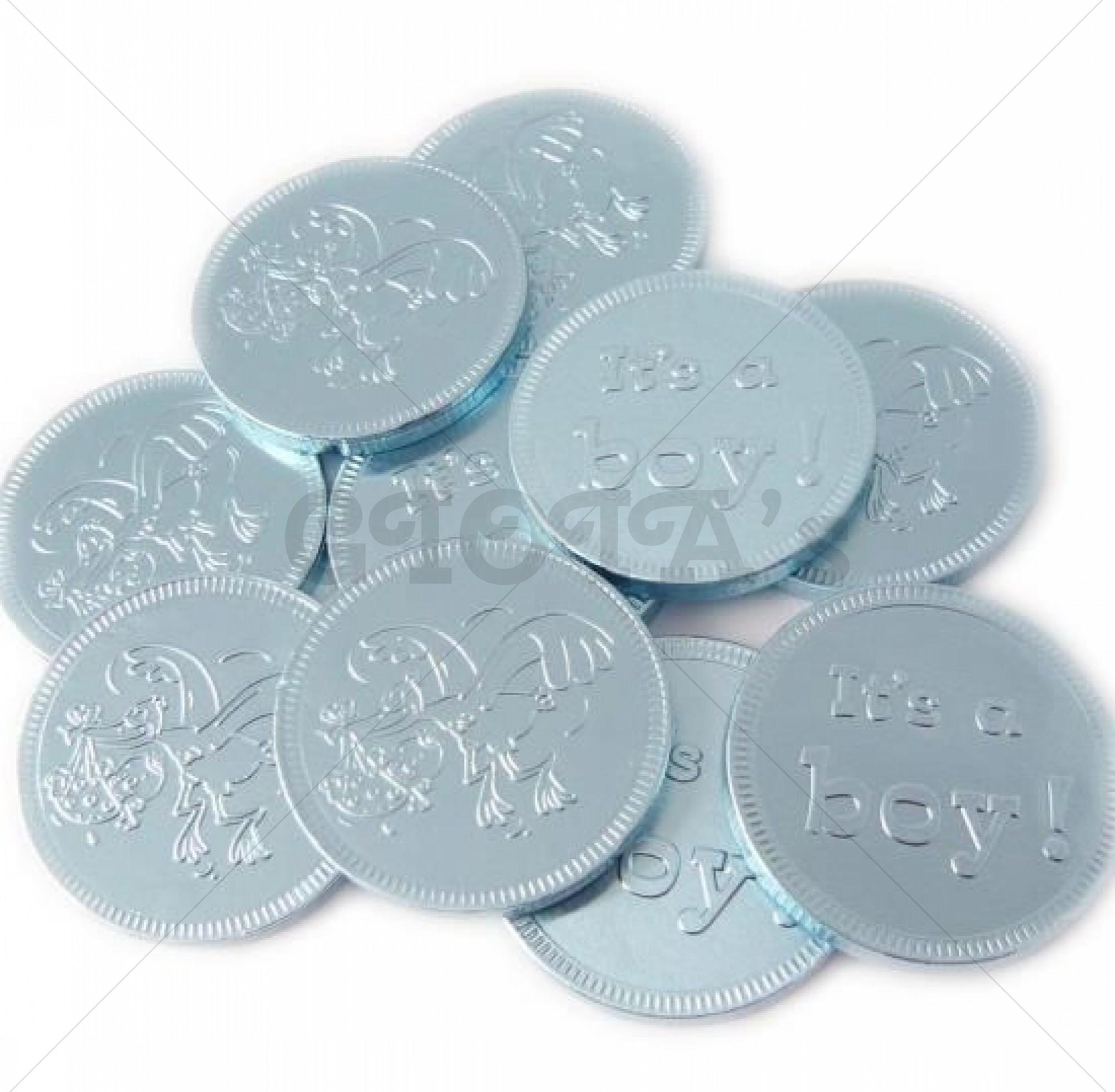 Themasnoep - Babymunt - blauw melkchocolade prijs per stuk