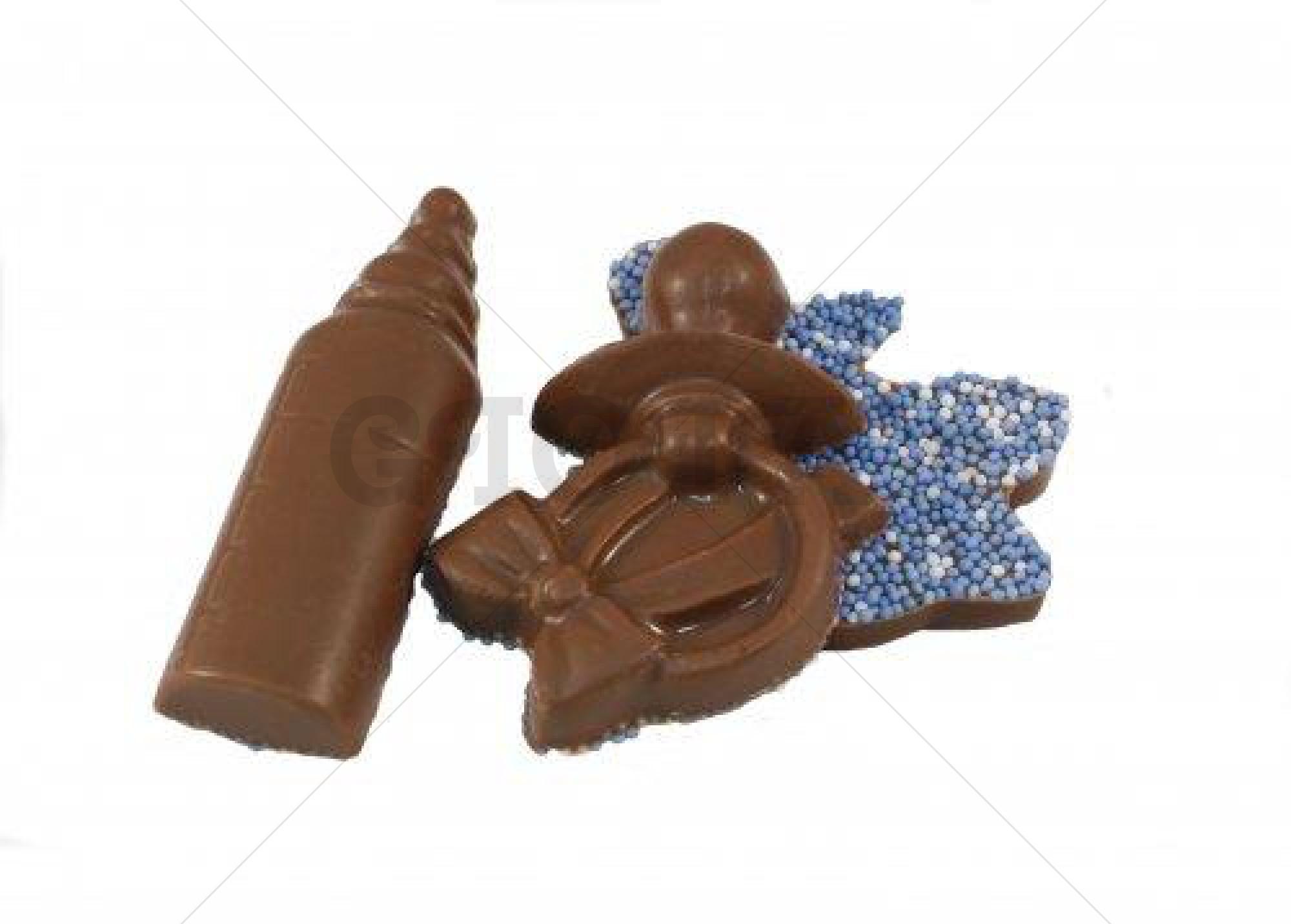 Themasnoep - Geboorte assortiment chocolade blauw per stuk