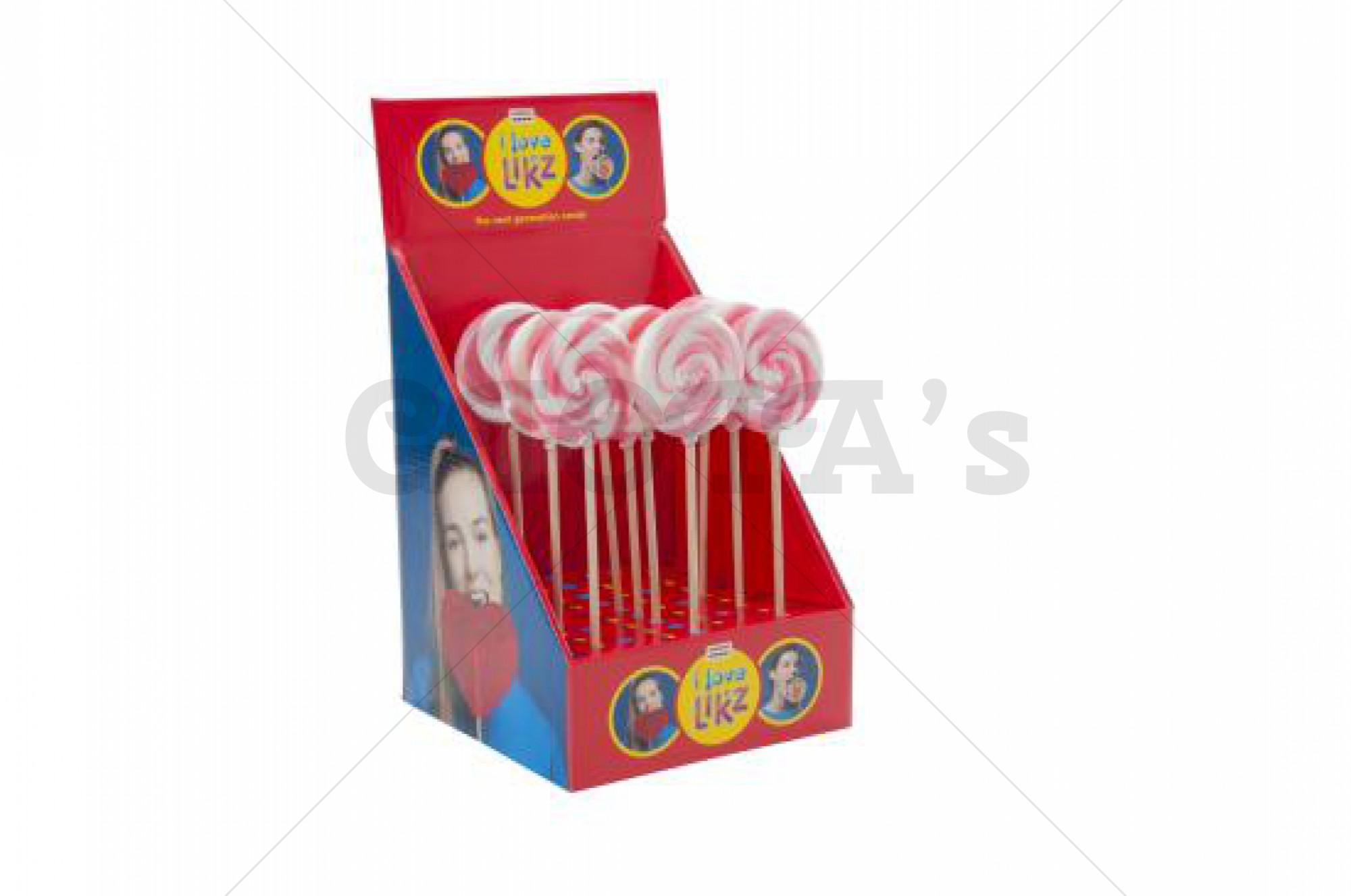 Themasnoep - Spiraal lolly roze 7 cm prijs is per stuk.