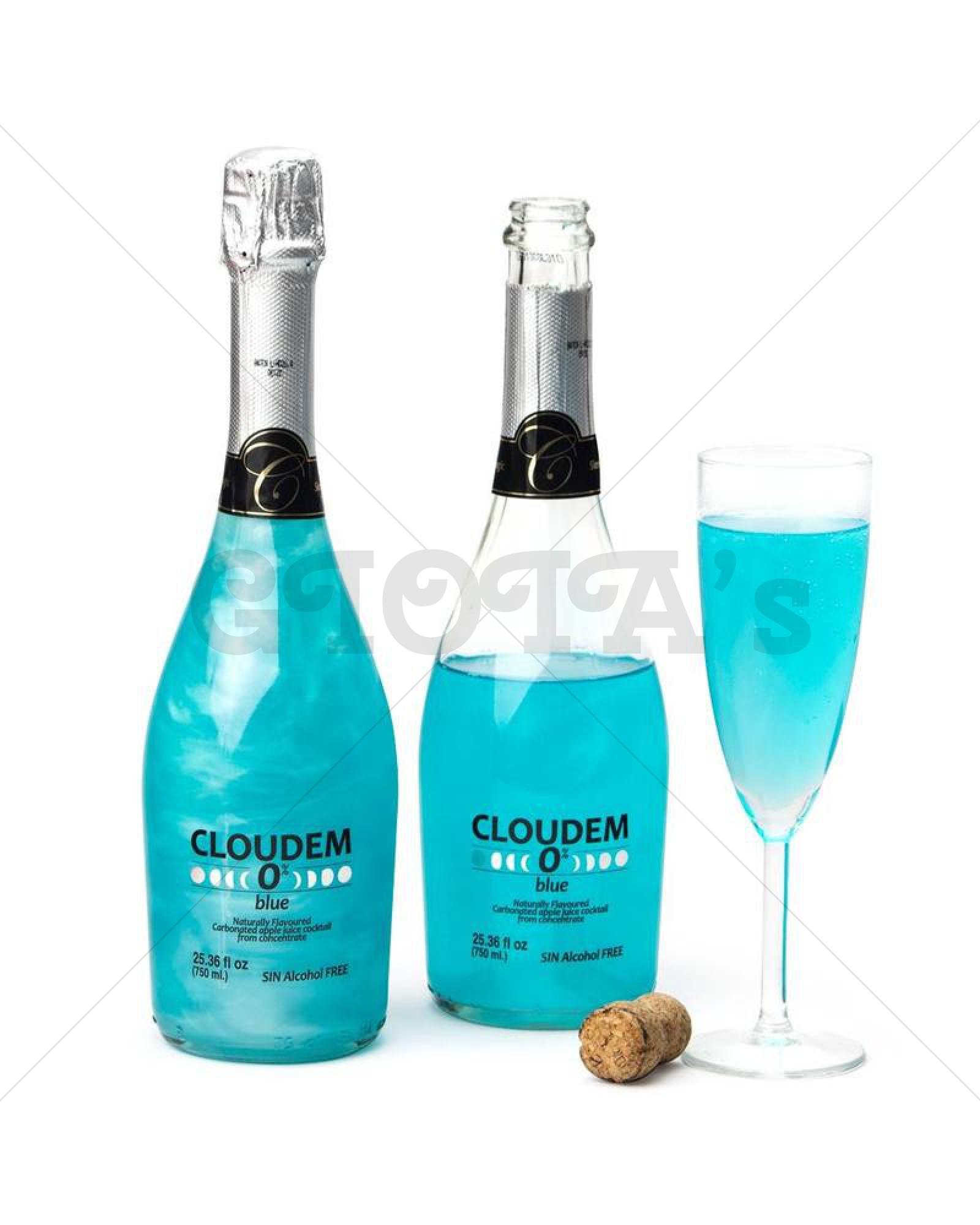 Cloudem blauw thema drank, babyshower drank, toost drank, onthulling-drank, feestdrank alcoholvrije drank 750ml