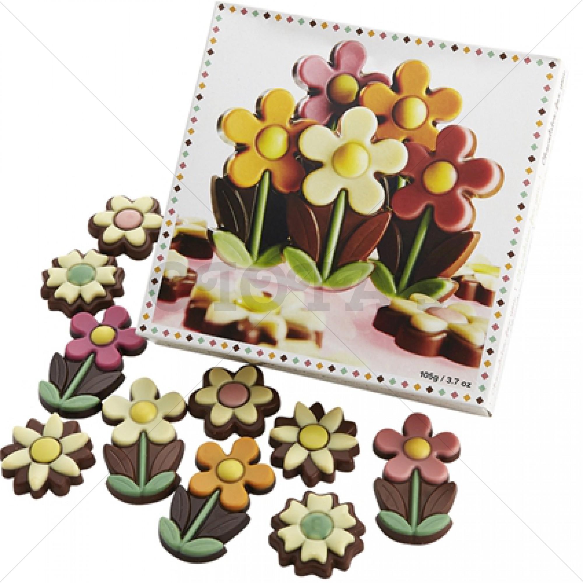 Chocolade bloemen