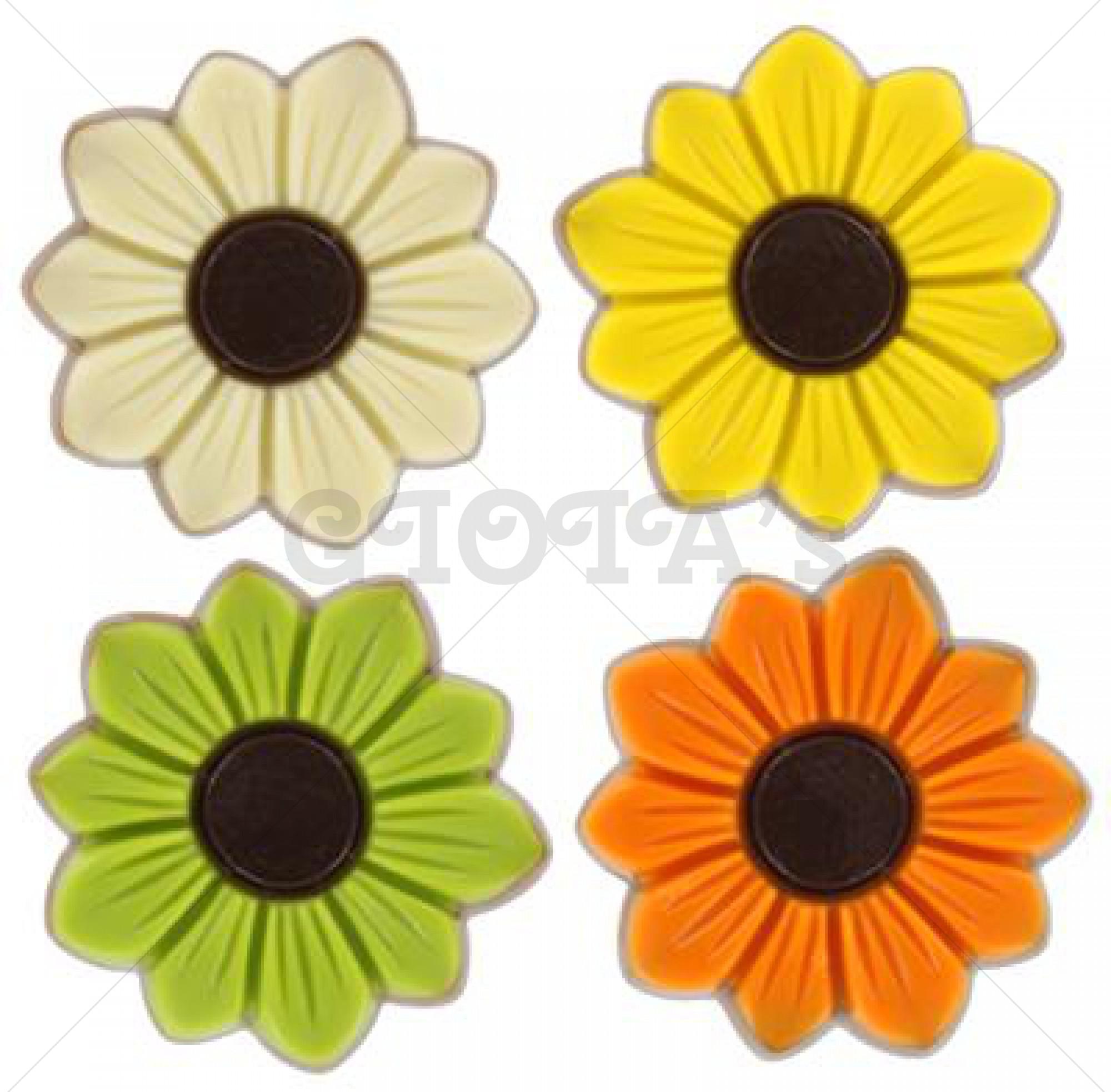 Chocolade bloemen 4 - stuks