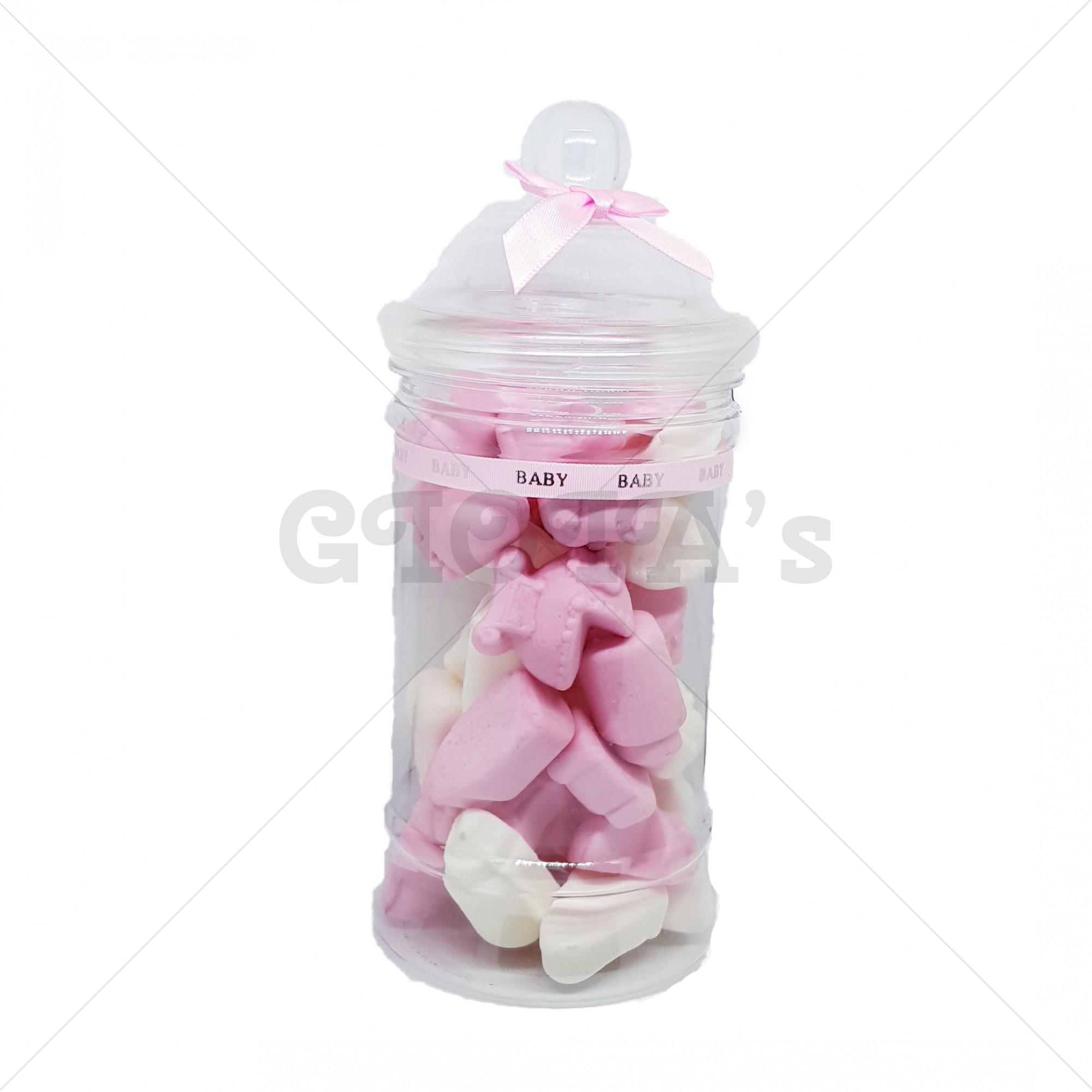 Snoeppot - Roze schuim babyshower