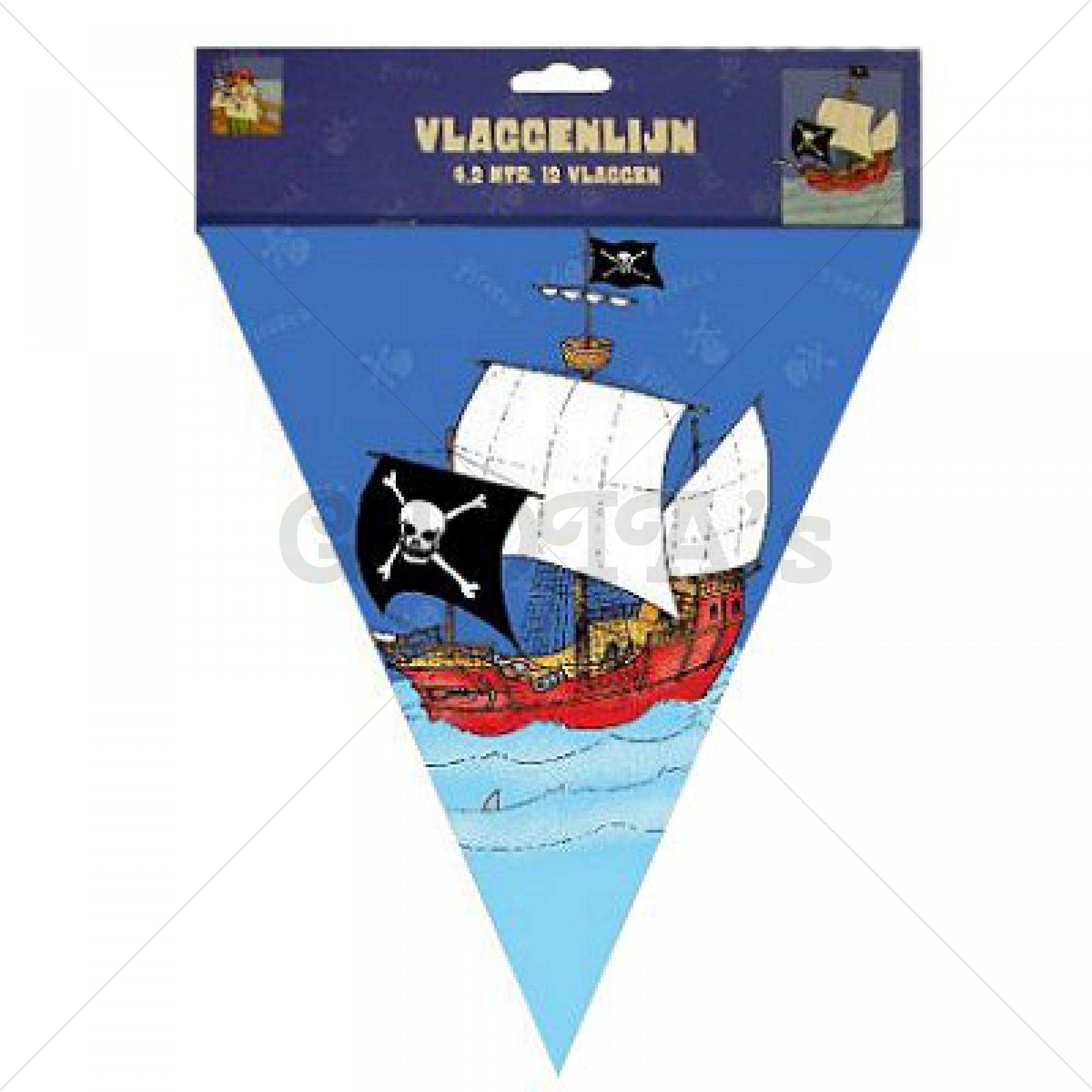 Feestartikelen Piraat vlaglijn