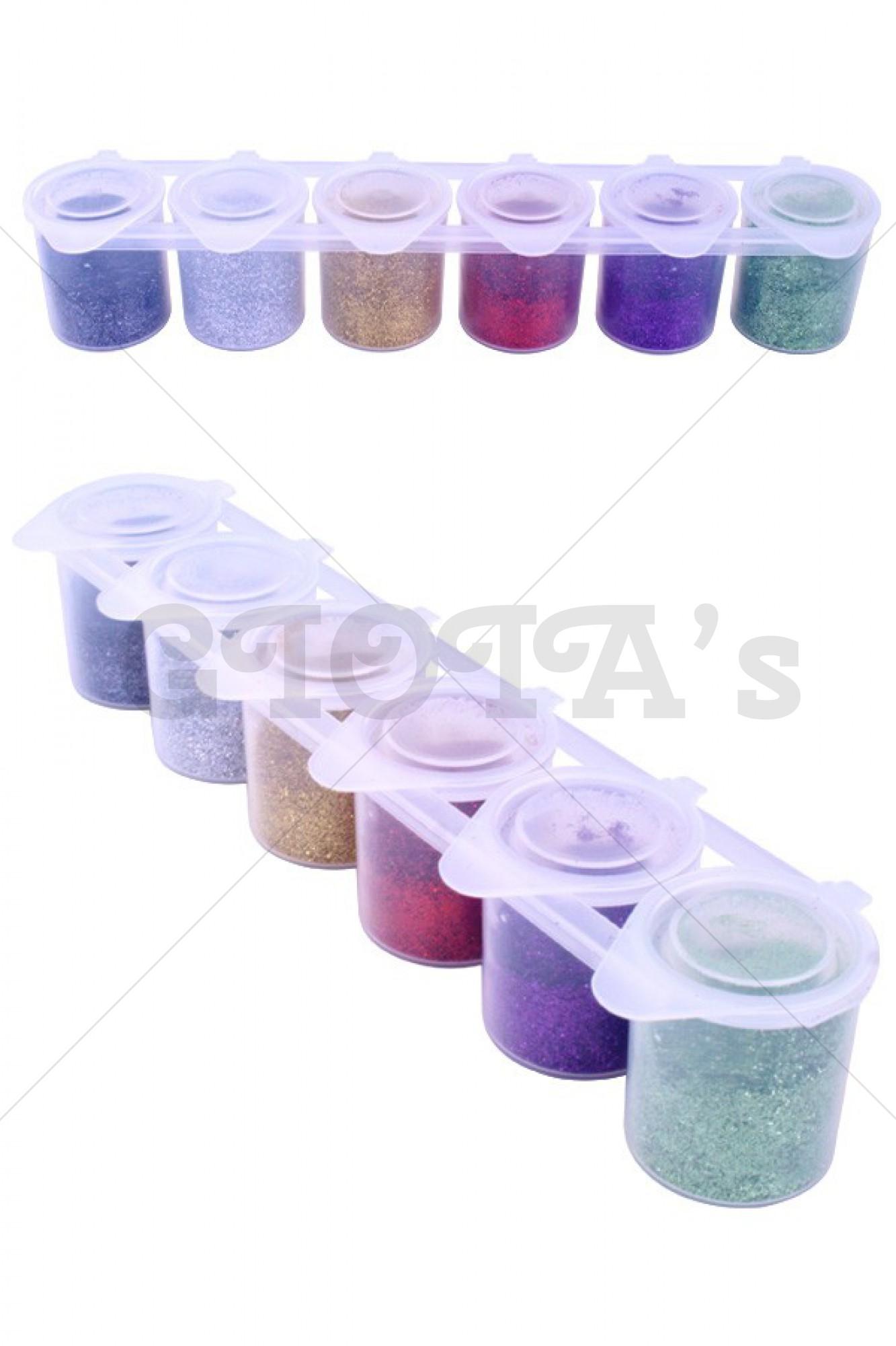 Tattoo huidglitter colorxplosion glitter color set 6x13 gram Ybody