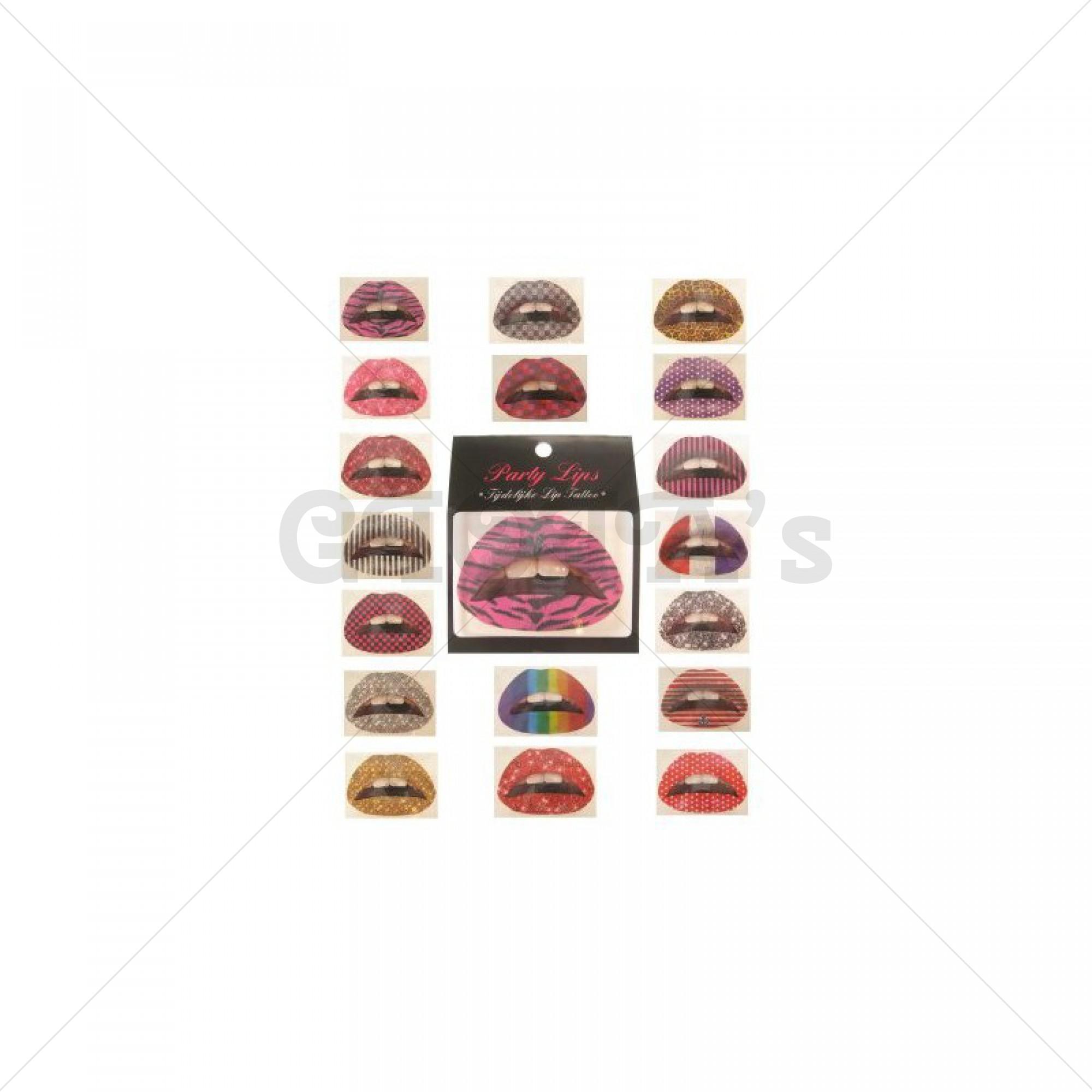 Lip tattoo party lips prijs per stuk.