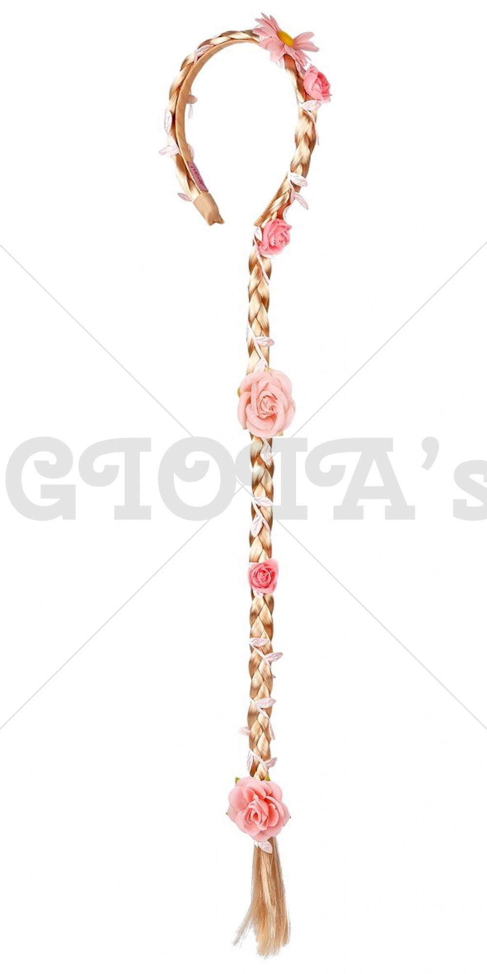 Diamdeem met vlecht en bloem 85cm merk Souza