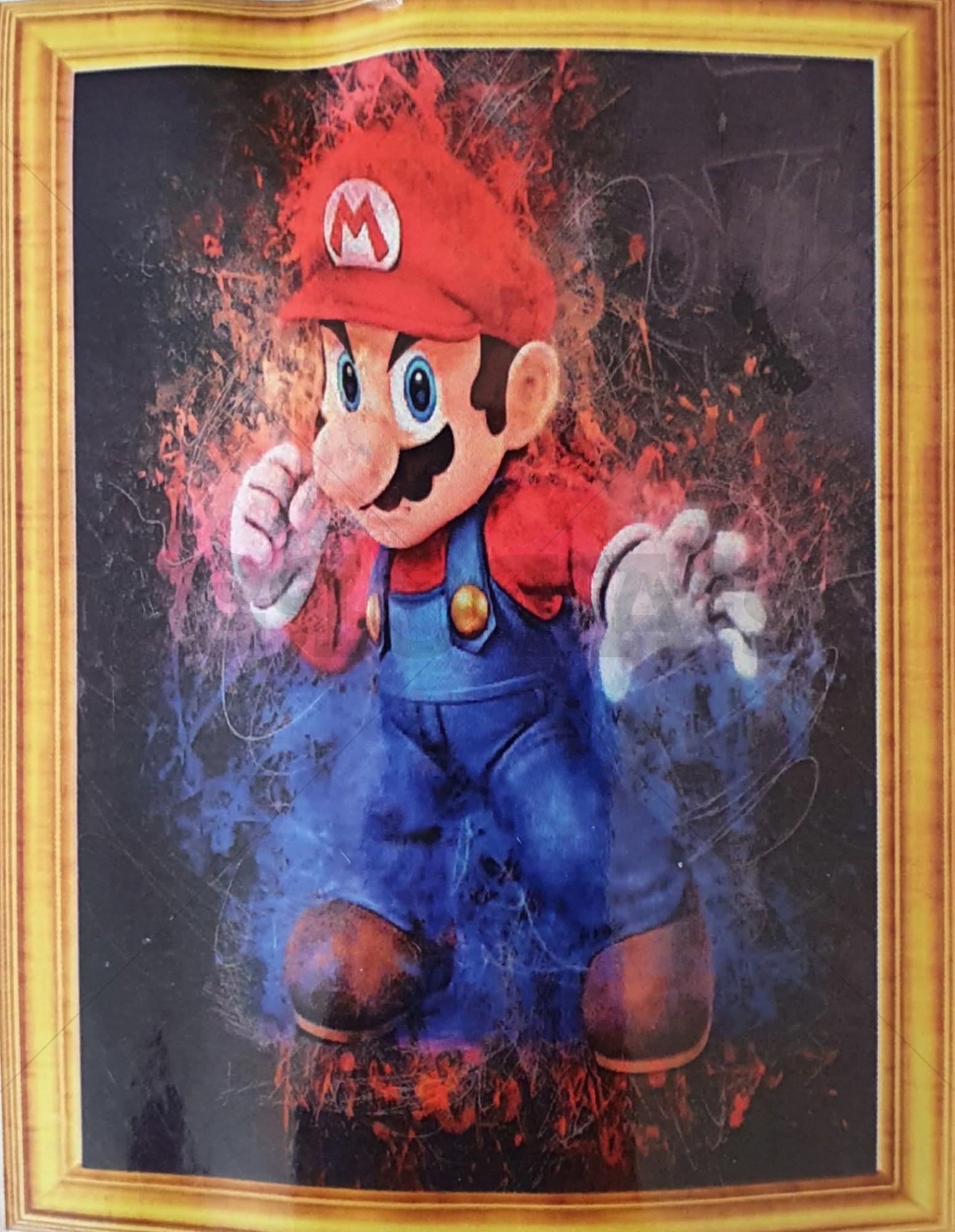 Diamond Painting Mario 30 x 40 cm