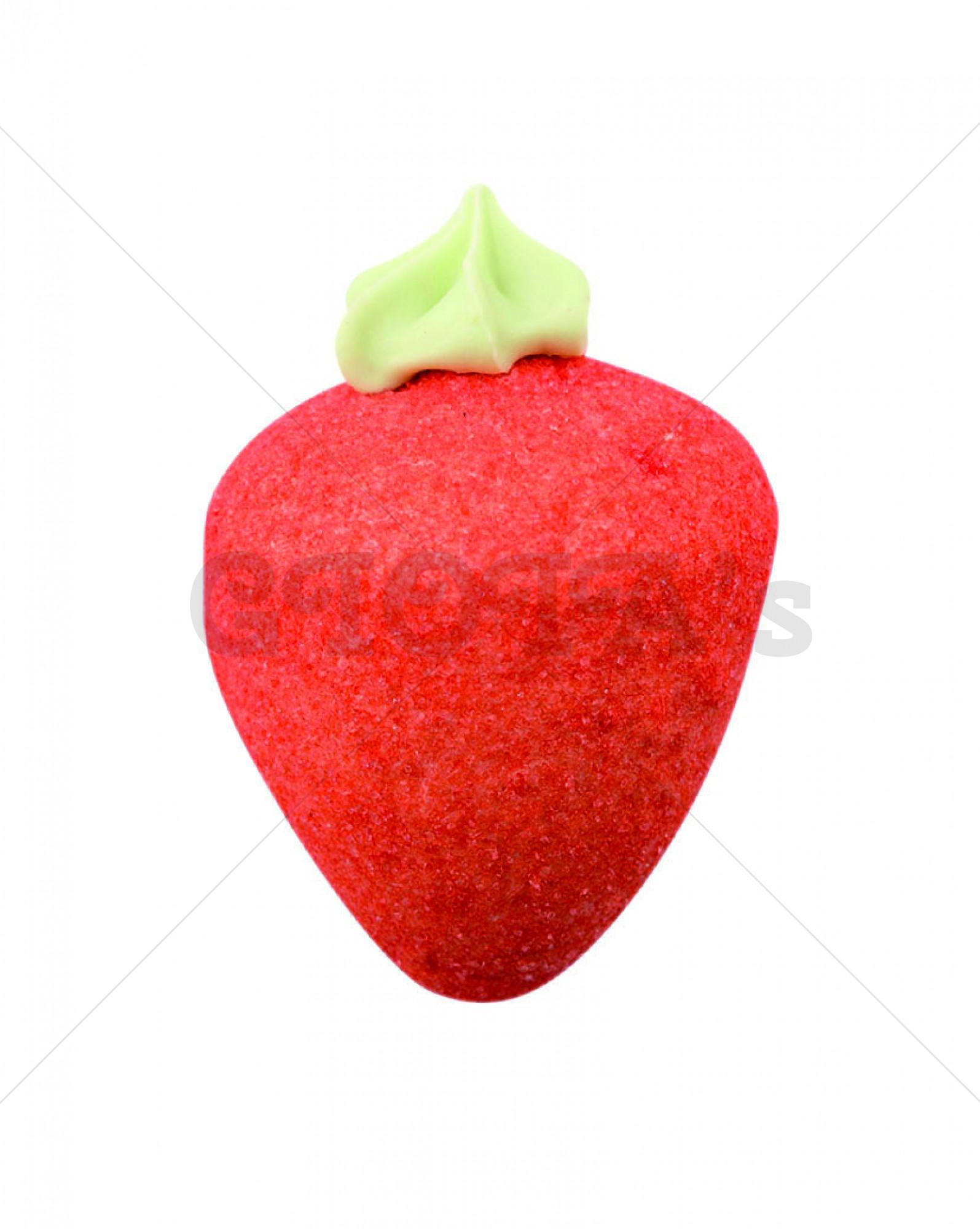 Marshmallow aardbei 6cm prijs per stuk