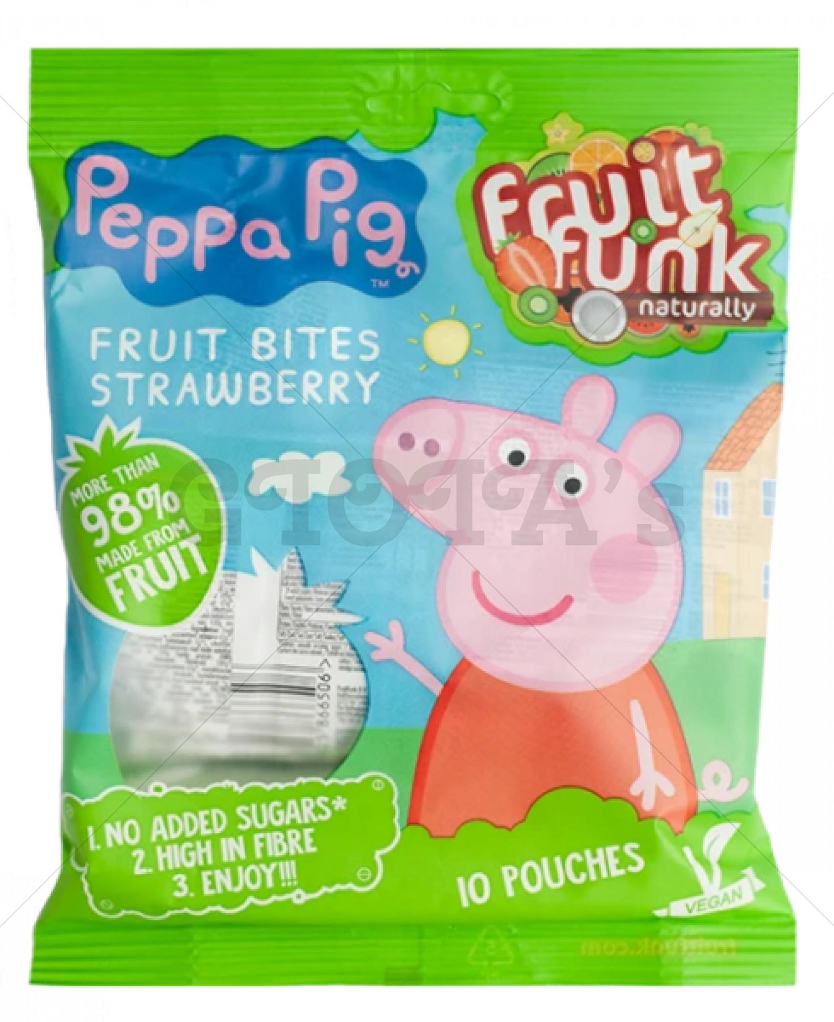 Peppa Pig Multibag Strawberry  gezonde traktatie 10-stuks