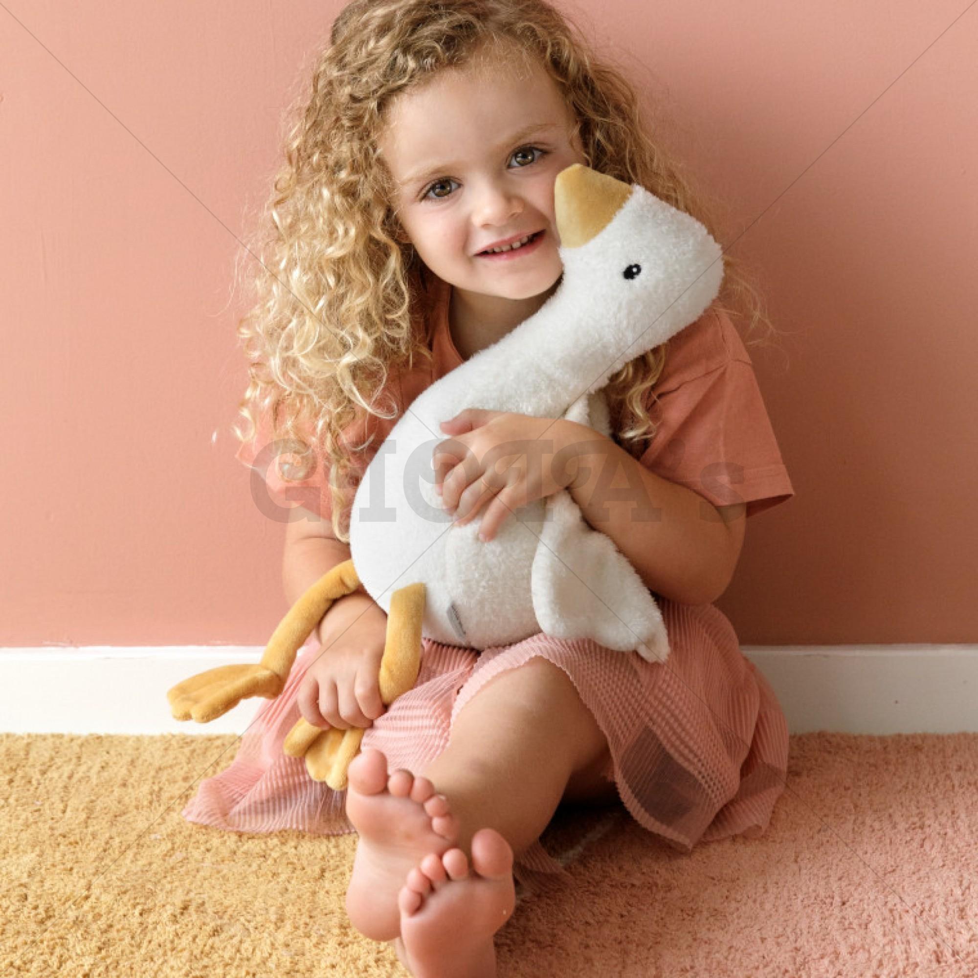Grote knuffel Gans/Goose - Little Dutch