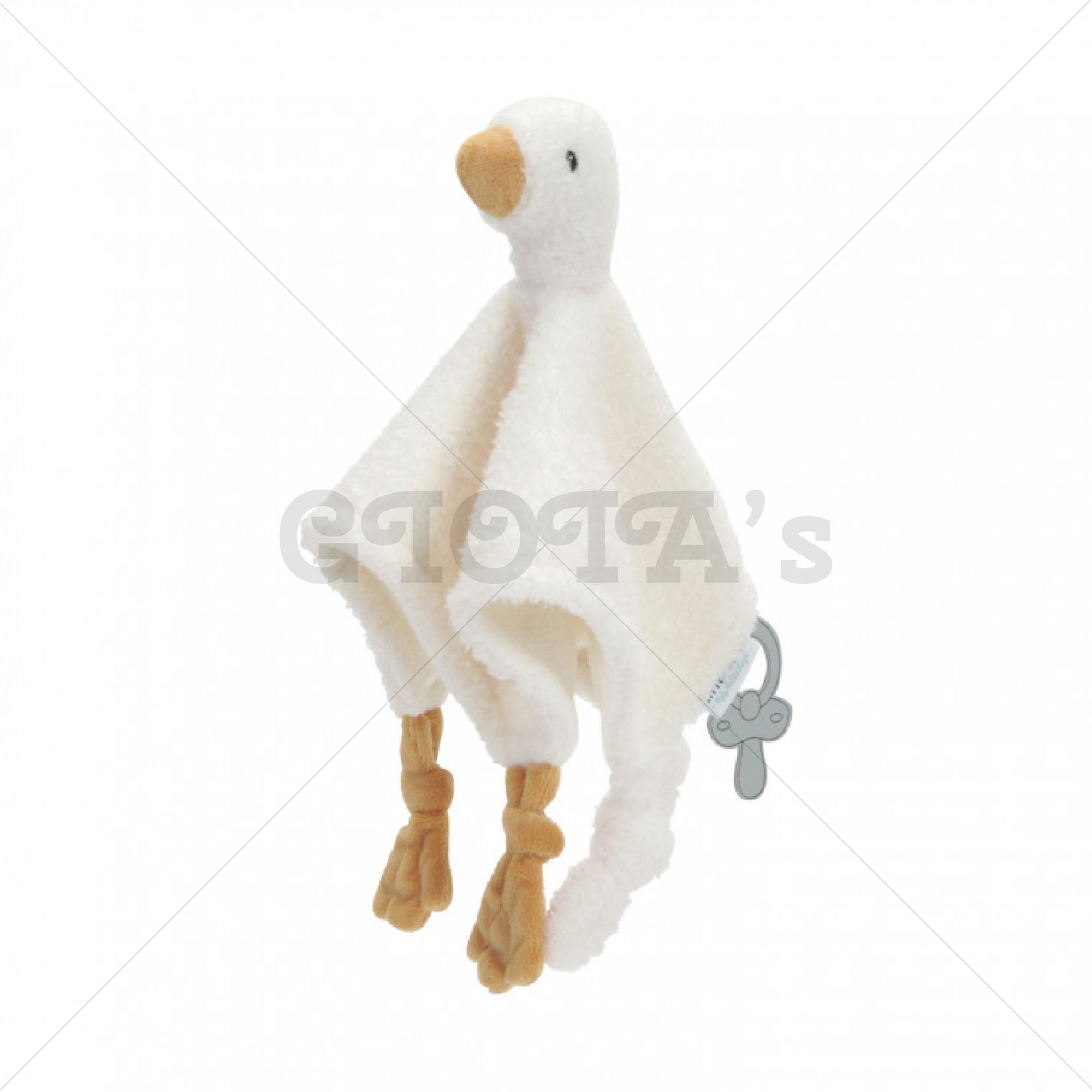 Knuffel speendoekje kleine Gans/Little Goose - Little Dutch