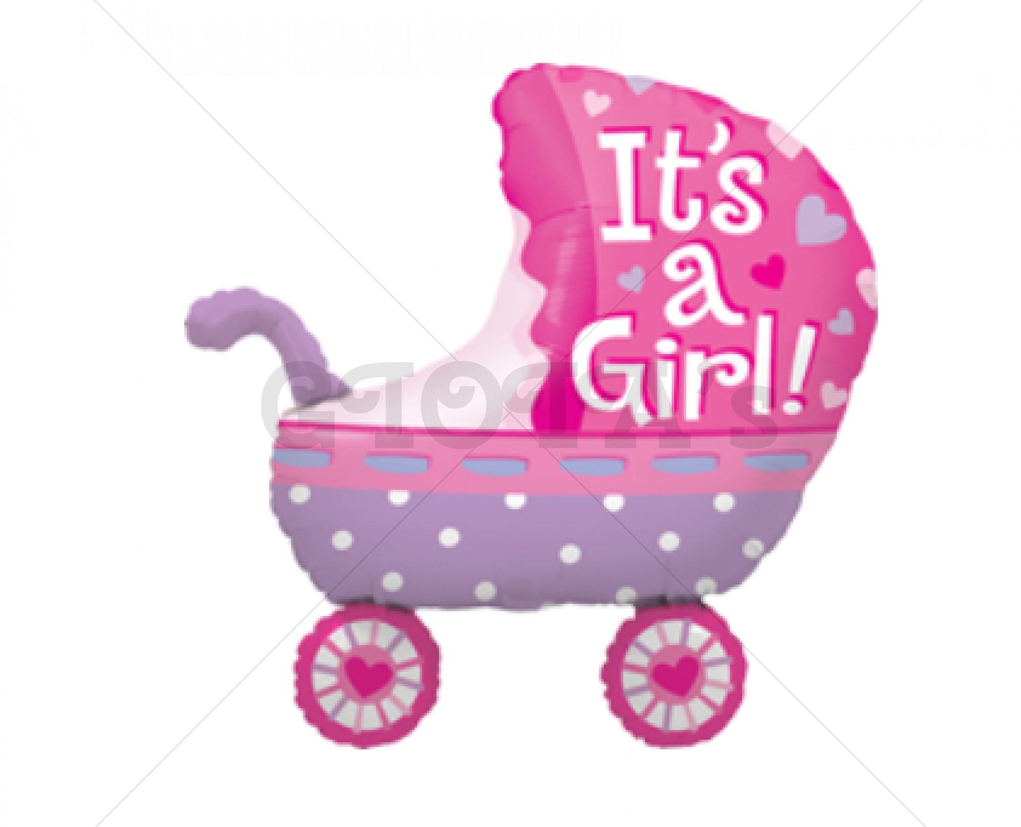 Folie ballon Kinderwagen its a girl 85cm