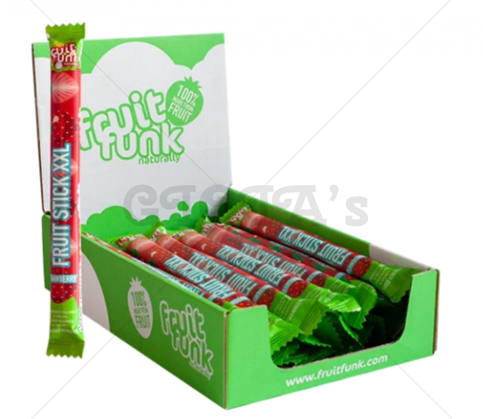 Fruitstick xxl - aardbeien  prijs is per stuk