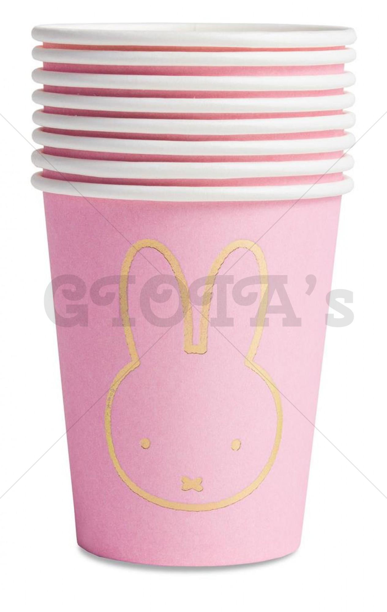 Nijntje feestartikelen bekers roze 8-stuks 25cl