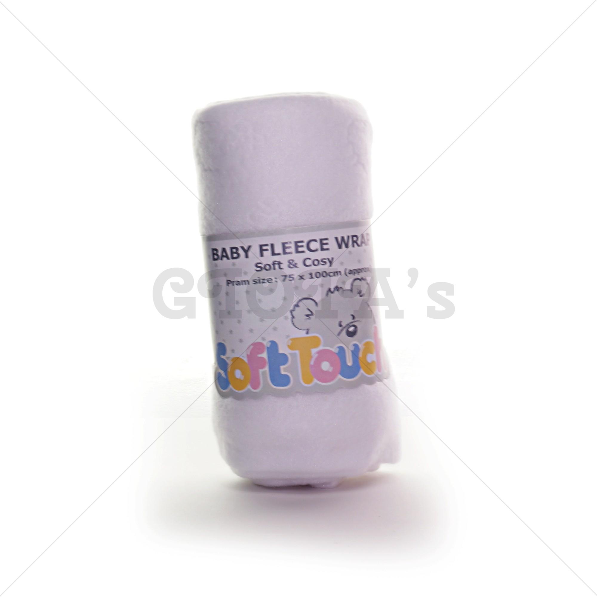 0be27a43d5e Soft Touch fleece omslagdoek - wit