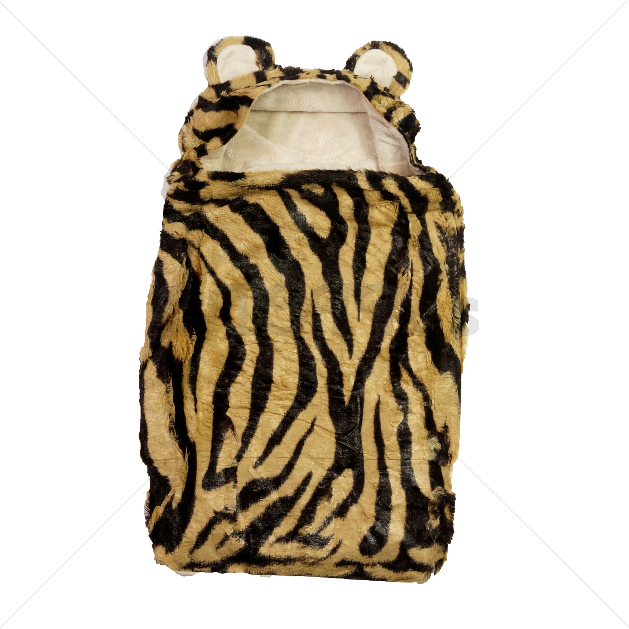 Soft Touch wikkeldoek / omslagdeken tijgerprint/beige