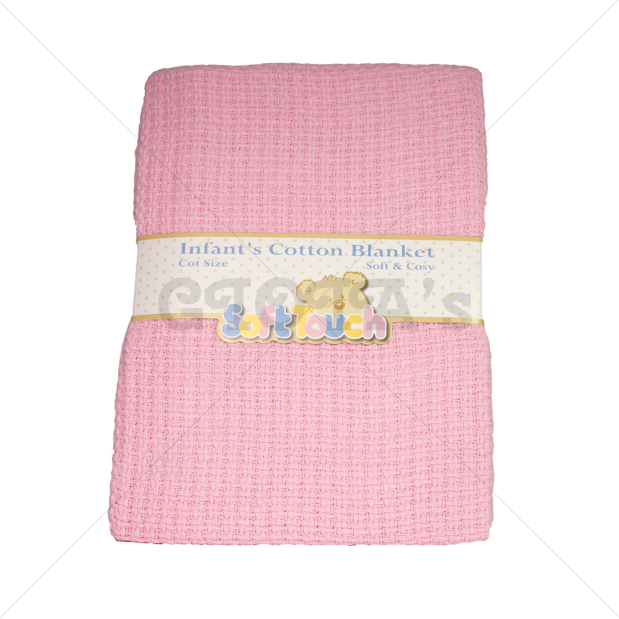 9dfdc072ea0 Soft Touch katoenen wafeldeken - Roze ledikant