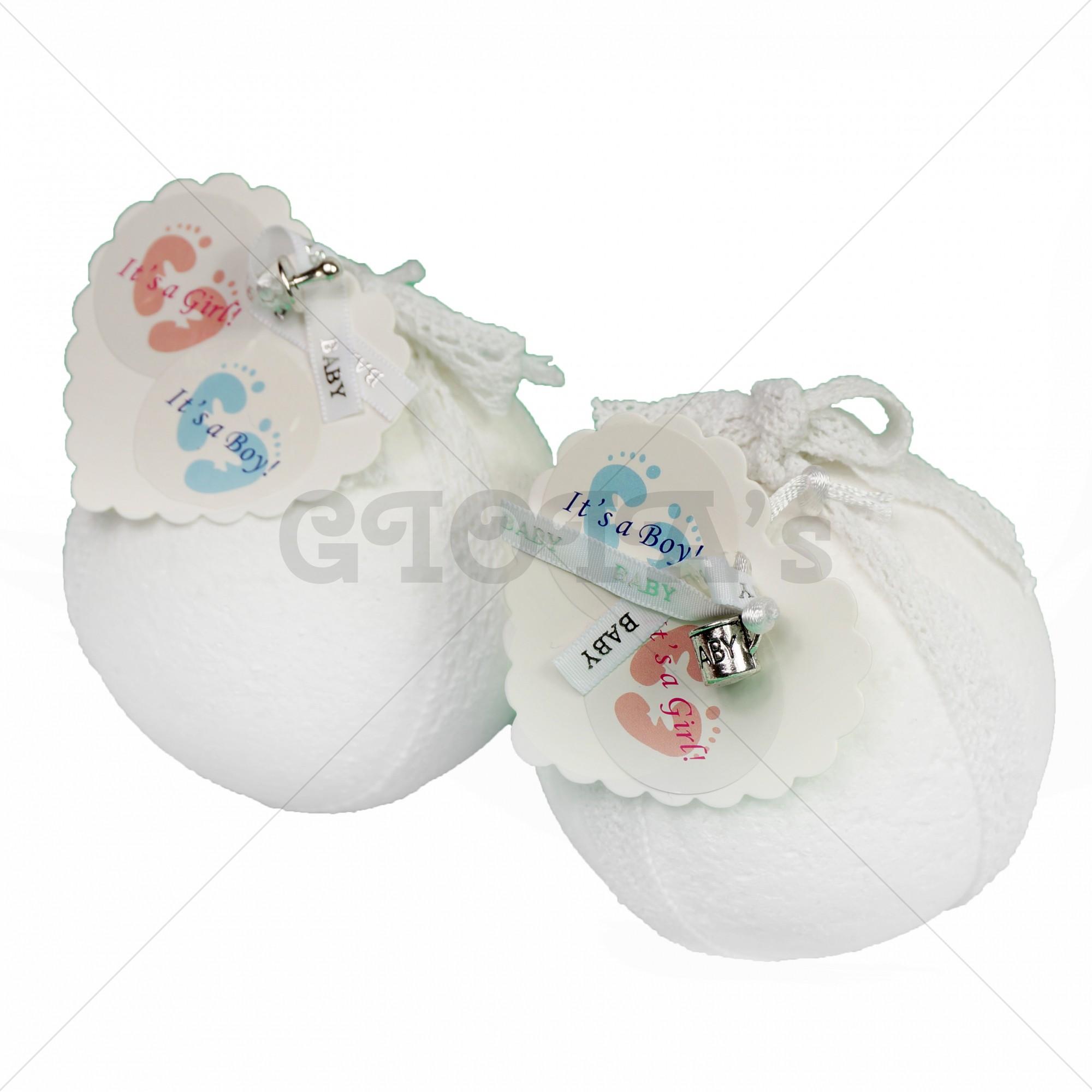 Gender Reveal baby bruisbal, 2 stuks (roze en blauw), geslacht-onthulling babyshower