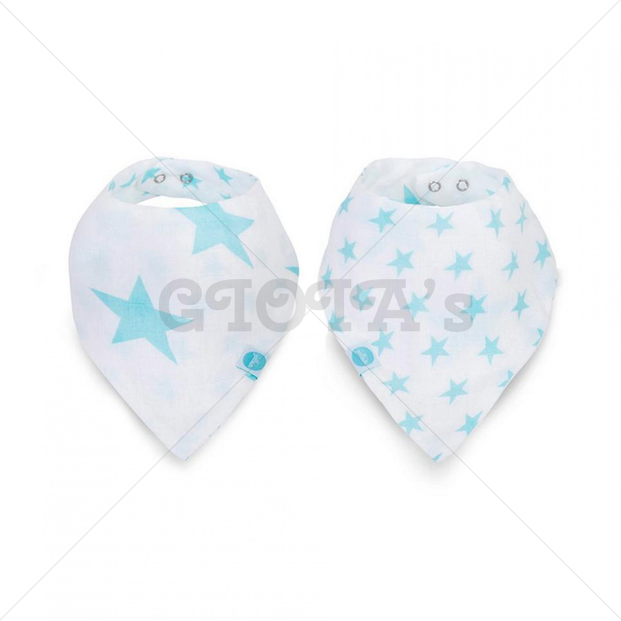 Jollein slab bandana hydrofiel Little star mint (2pack)