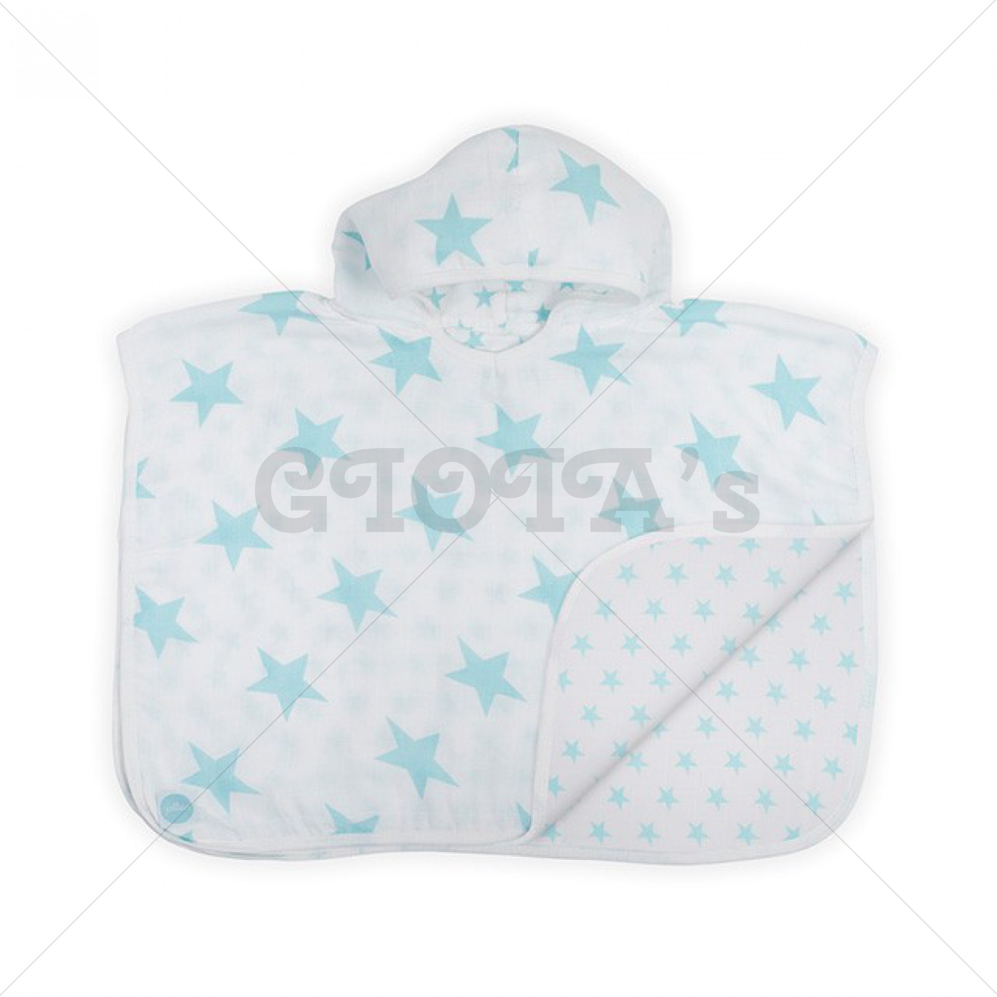 Jollein badponcho hydrofiel 45x60cm Little star mint