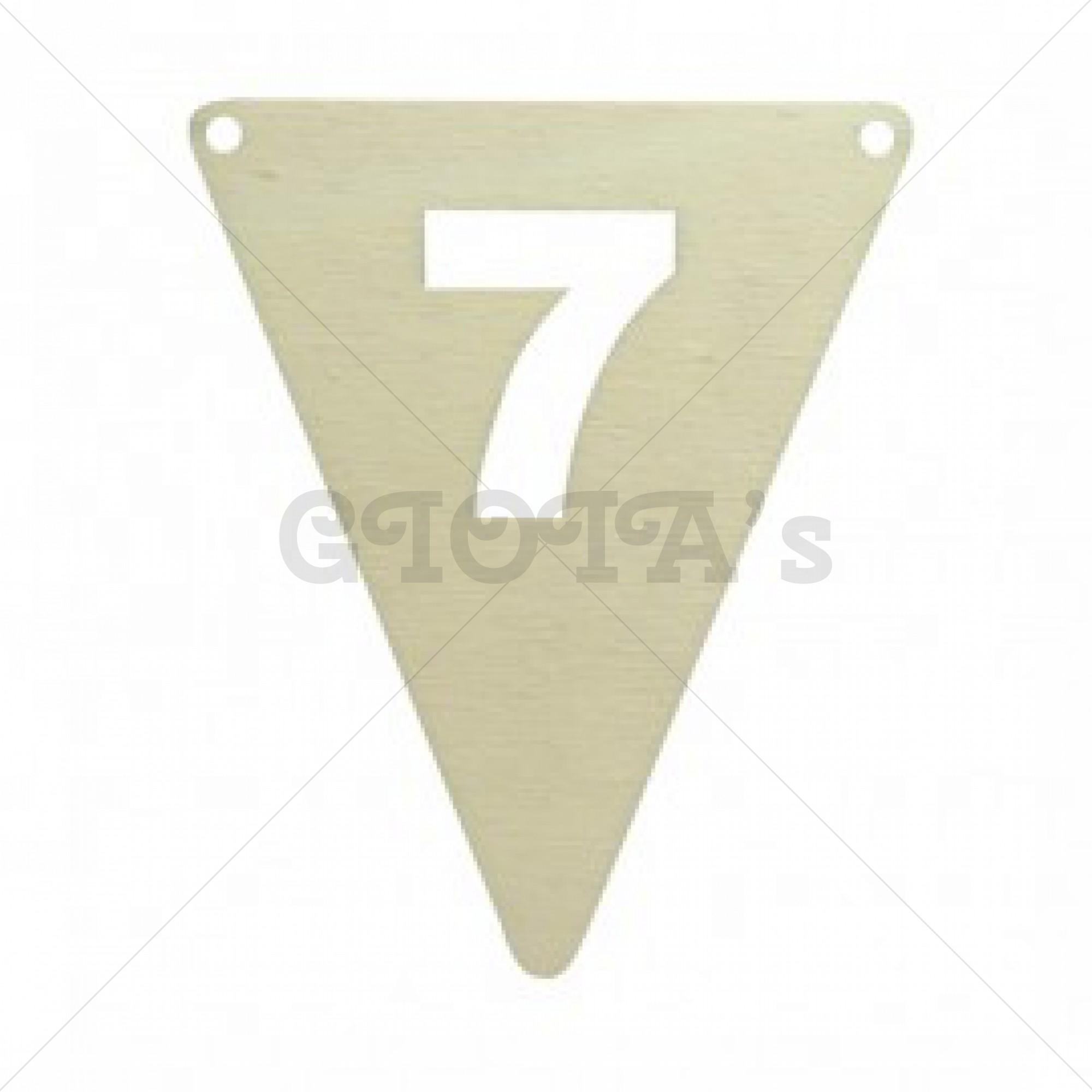 Houten vlaglijn cijfer 7