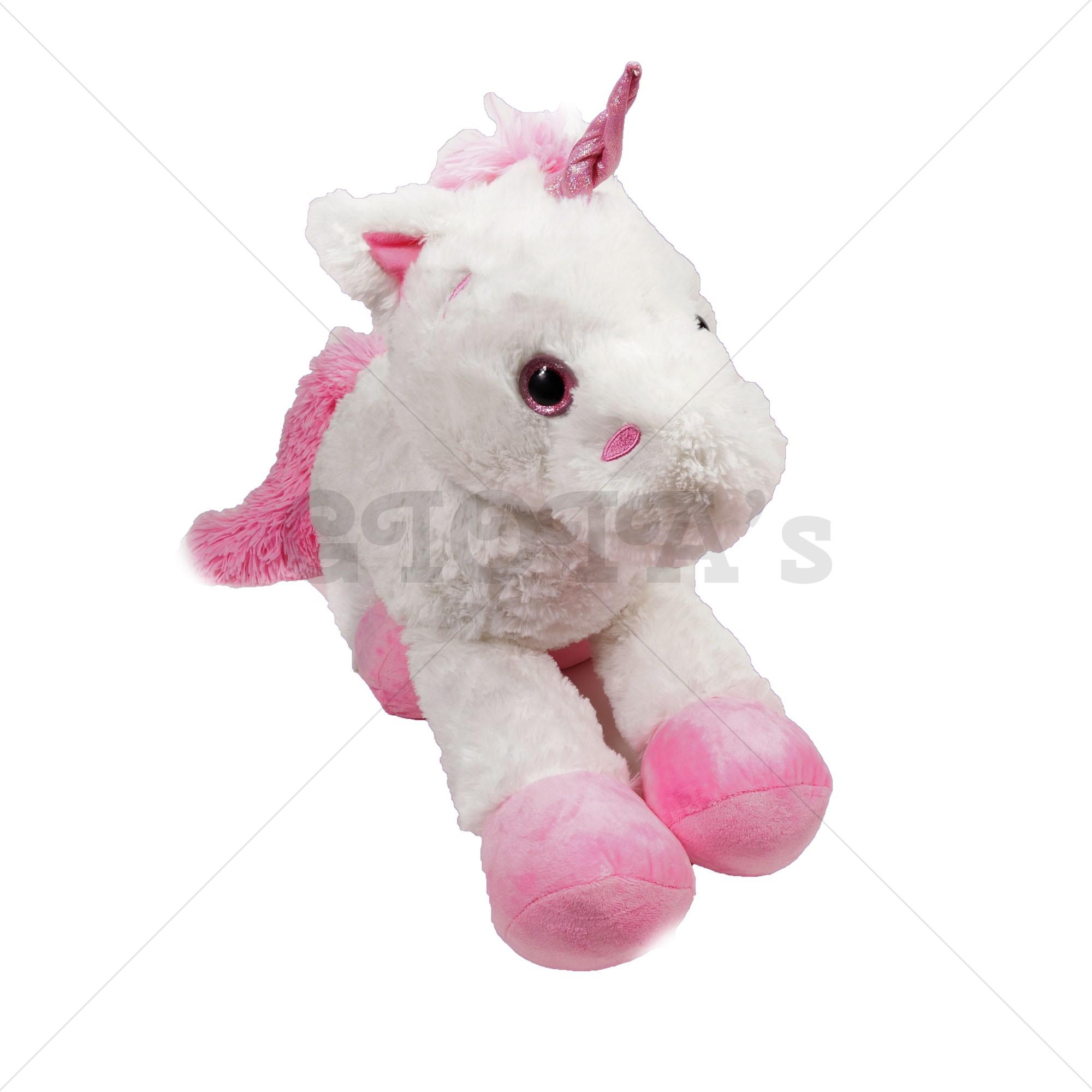 8f3e21f0eed761 Unicorn knuffel pluche wit 80 cm - GIOIA's cadeau en feestartikelen