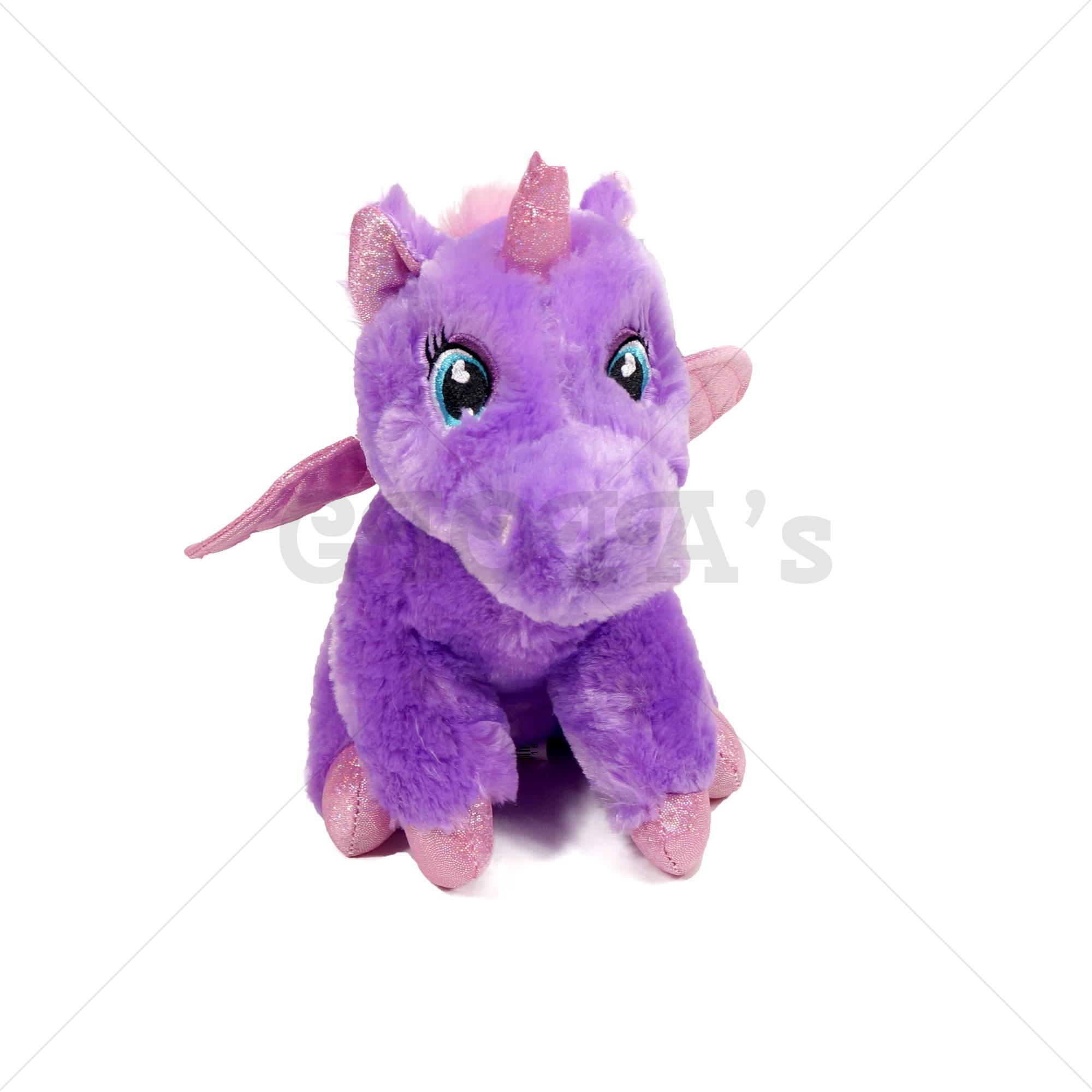 74205592289022 Unicorn knuffel paars 28cm - GIOIA's cadeau en feestartikelen
