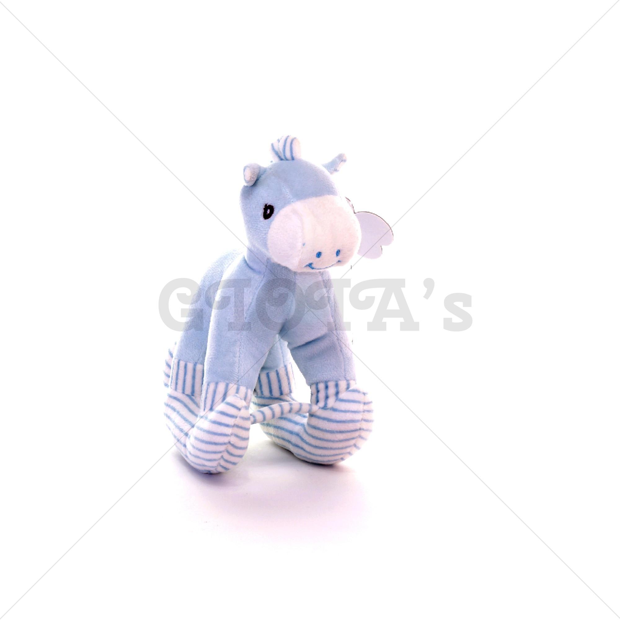 344e6087f382f9 Pluche hobbelpaard 20 cm - blauw - GIOIA's cadeau en feestartikelen