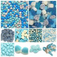 Blauw snoepgoed
