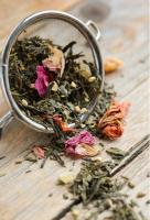Bloeiende thee, losse thee, thee ei