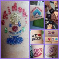 Glitter tatoos-huidlijm-Schmink
